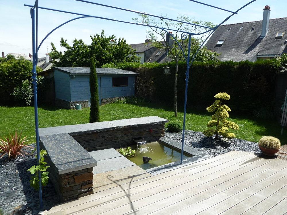 Bassins angers maine et loire 49 chevalier paysage - Bassin fontaine pour terrasse colombes ...