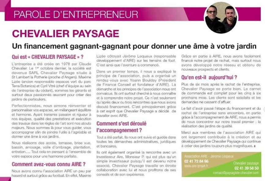 Chevalier Paysage parole entrepreneur