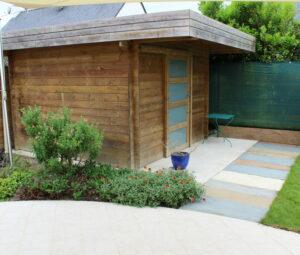 Abri jardin toit plat Bouchemaine