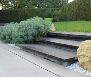 Escalier contemporain extérieur