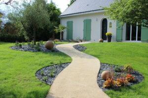 Création d'allée de jardin St Lèger des Bois
