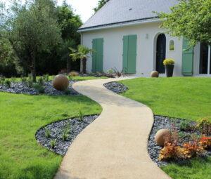 Valorisation des courbes d'un jardin